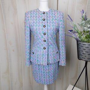 Carlisle Vintage Lilac Tweed Skirt Suit